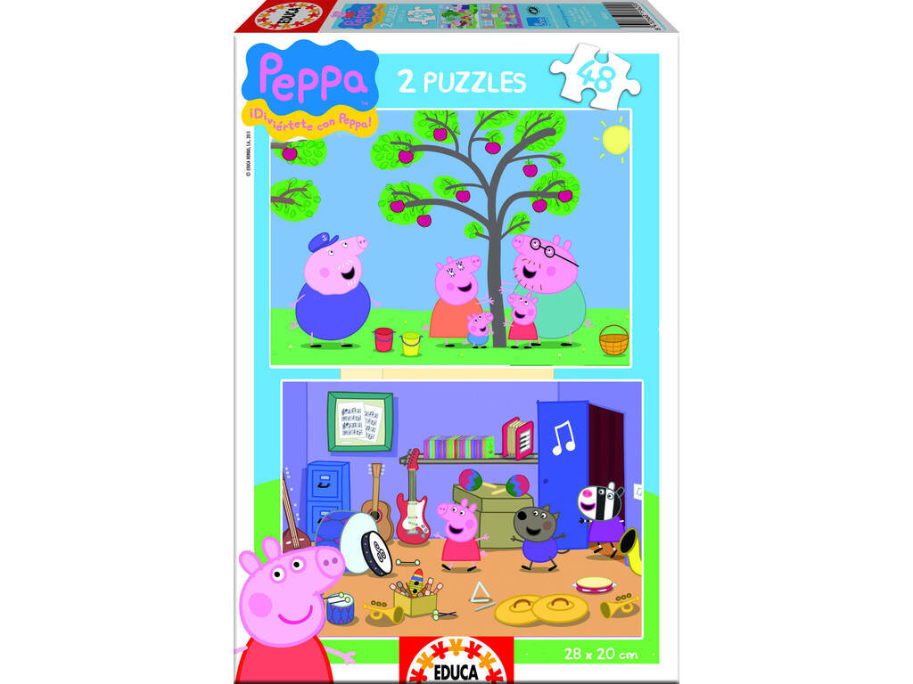 Puzzle 2X48 Peppa Pig