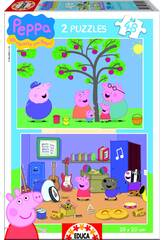 Puzzle 2X48 Peppa Pig