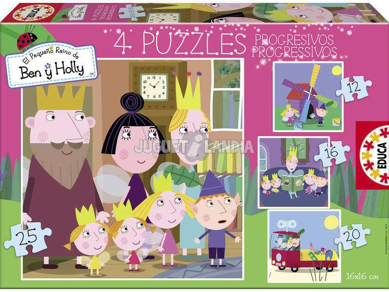 Puzzle Progresivos 12-16-20-25 Ben y Holly