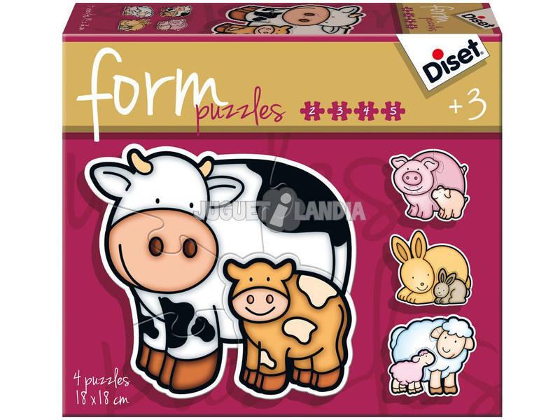 Puzzle Infantil Form Vaca Diset 69954