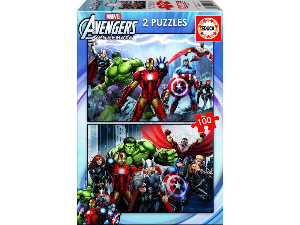 Puzzle 2X100 Avengers Educa 15771