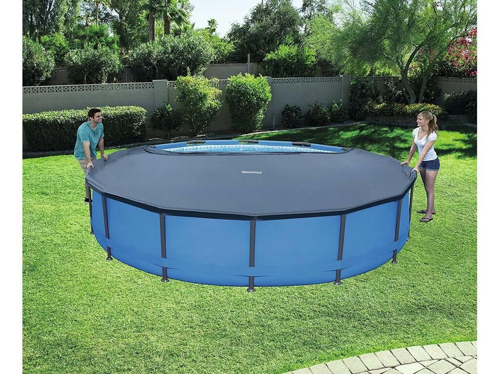 Cubierta para piscina de 366 cm bestway 58037 juguetilandia for Cubre piscina bestway
