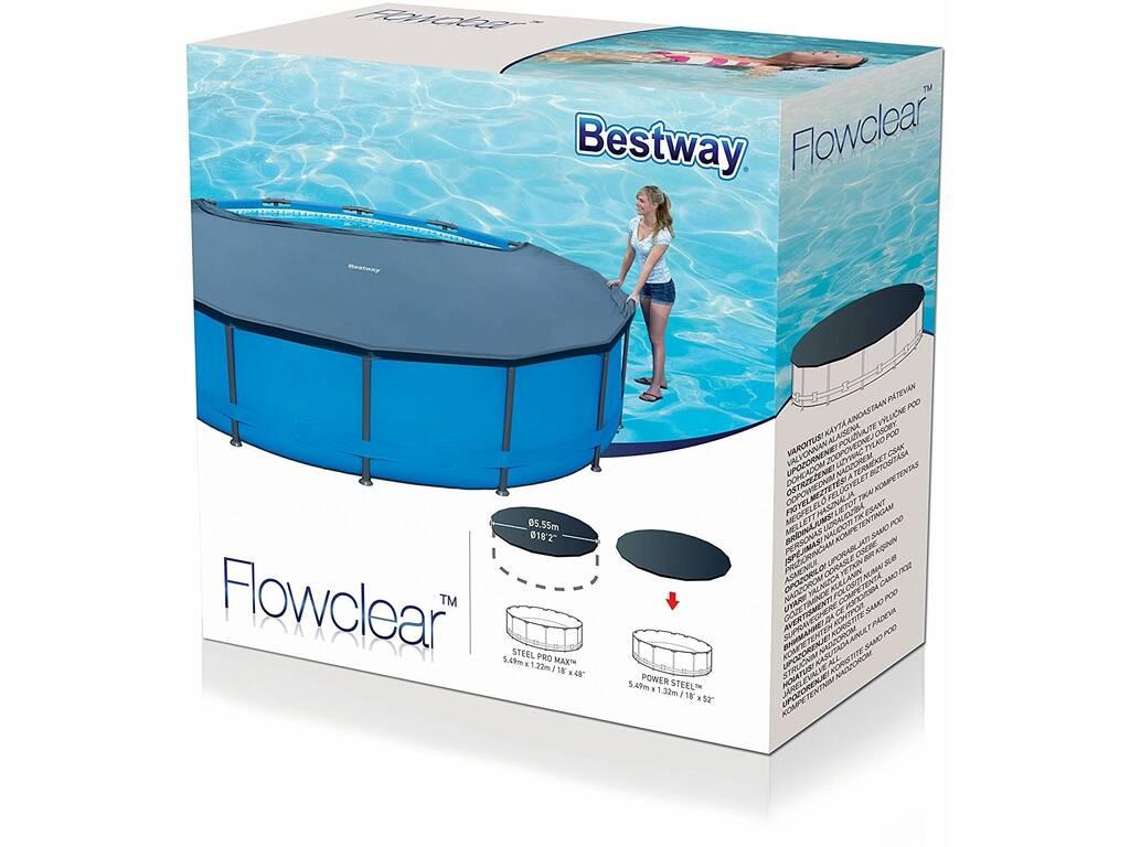 Cubierta para piscina de 549 cm bestway 58039 juguetilandia for Cubre piscina bestway