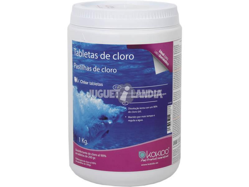 Cloro 90% Tabletas 200 Gr. de Disolucion Lenta 1 Kg. Bestway K1038Q