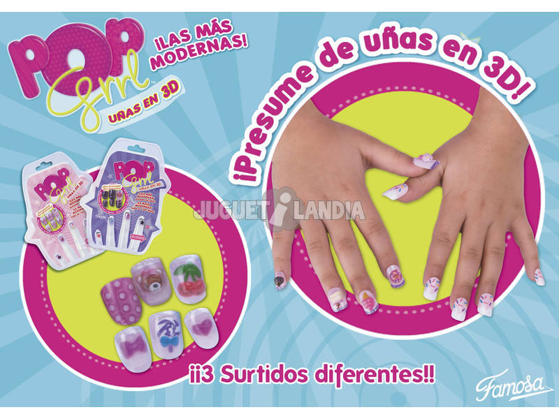 Pop Girl uñas 3D
