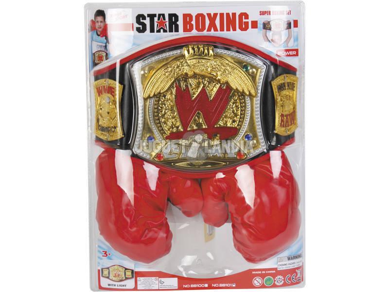 WWE Cinturón De Campeón y Guantes De Boxeo