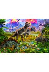 PUZZLE 500 Encuentro de Dinosaurios 34x48 cm EDUCA 15969