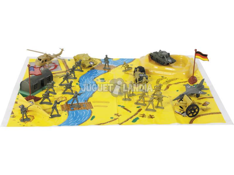 Set Figuras Militares con Accesorios 34 piezas