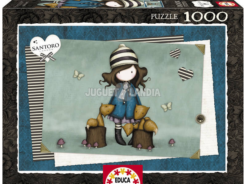 Puzzle 1000 The Foxes Gorjuss