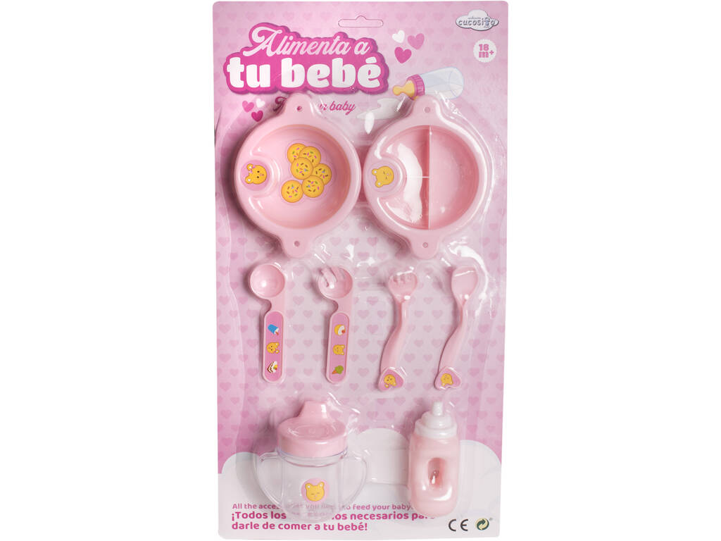 Set Accesorios Alimentación Muñeco Bebé