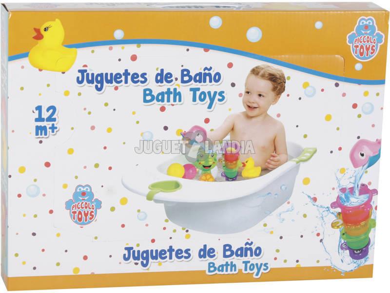 Set Juego de Baño Pececitos y Tazas