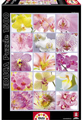 Puzzle 1500 Collage de Fleurs