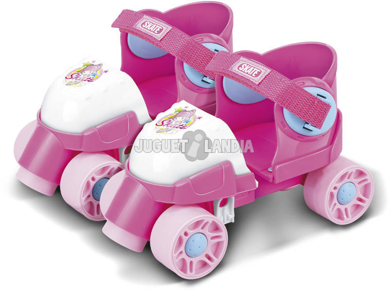 Patins 4 roues Rose Extensibles T-25-29
