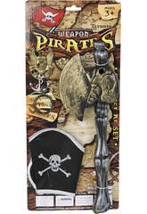 imagen Set Armas Piratas con Hacha y Gorro