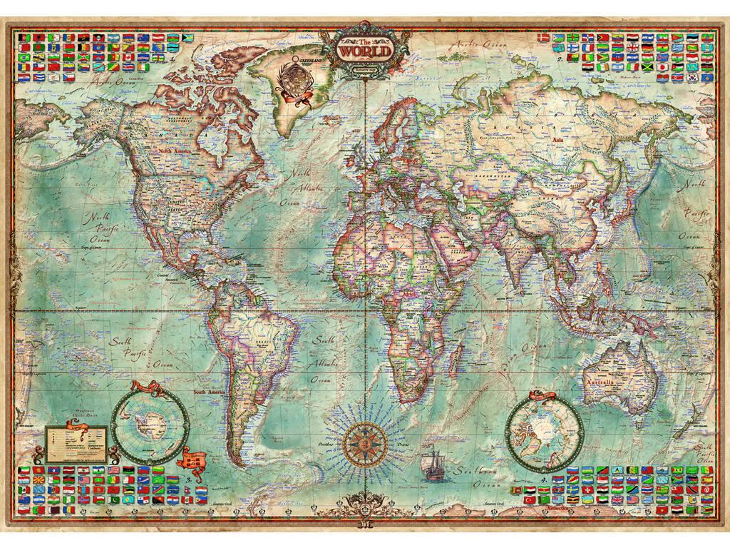 Quebra-cabeça 1500 O Mundo, Mapa Político