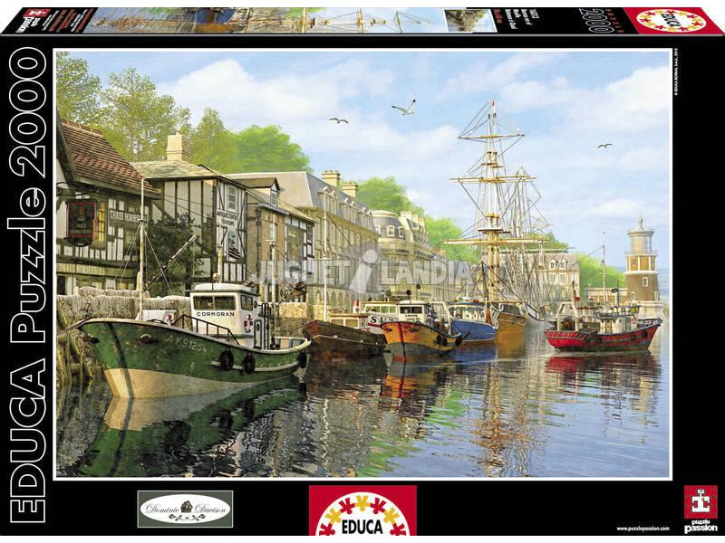 Puzzle 2000 Barche nel Molo
