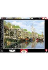 Puzzle 2000 Barques dans le Quai