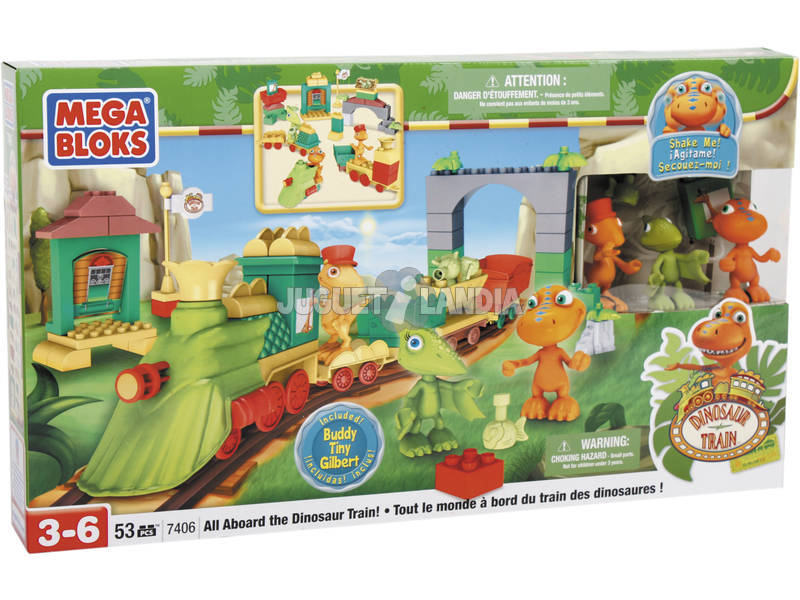 M.Bloks Dino train grand playset