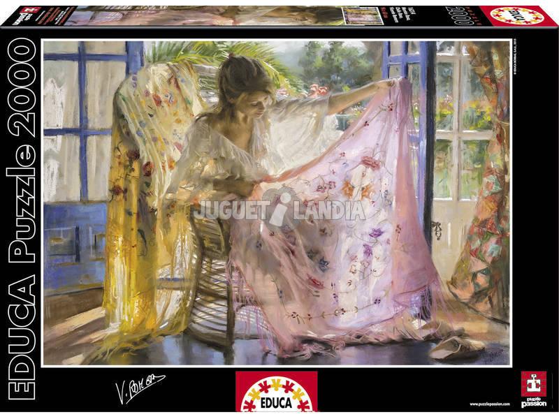 Puzzle 2000 Manton Rosa, Vicente Romero