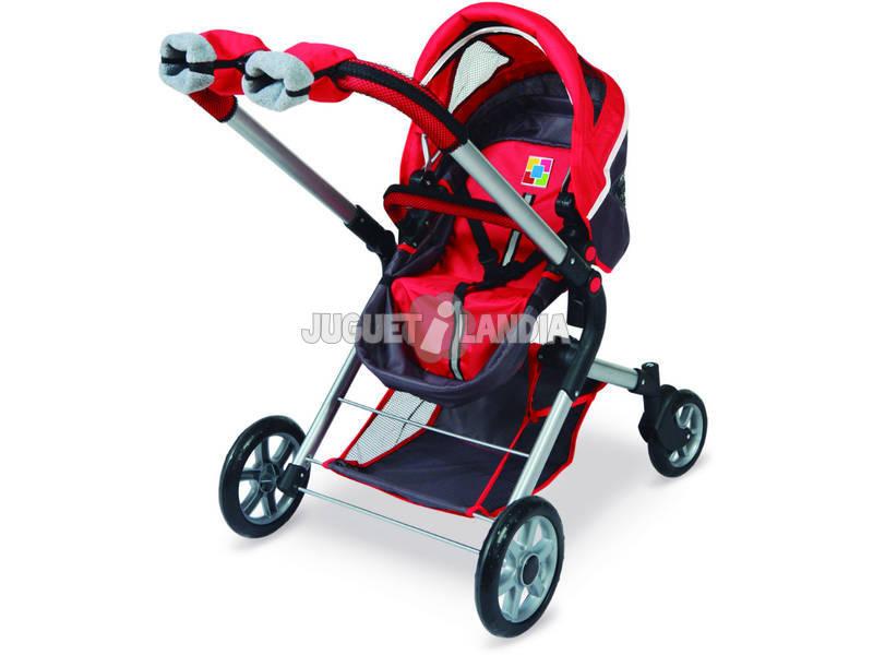 Coche y silla mu ecas 3 en 1 con manoplas city juguetilandia - Edad silla coche ...