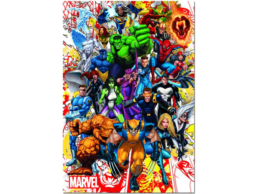 Puzzle 500 Héroes Marvel Educa 15560