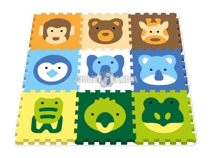 Tappeto Puzzle Animali 10 tessere 40 cm