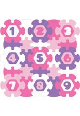 Tappeto Puzzle Rotondo Fiori e Numeri