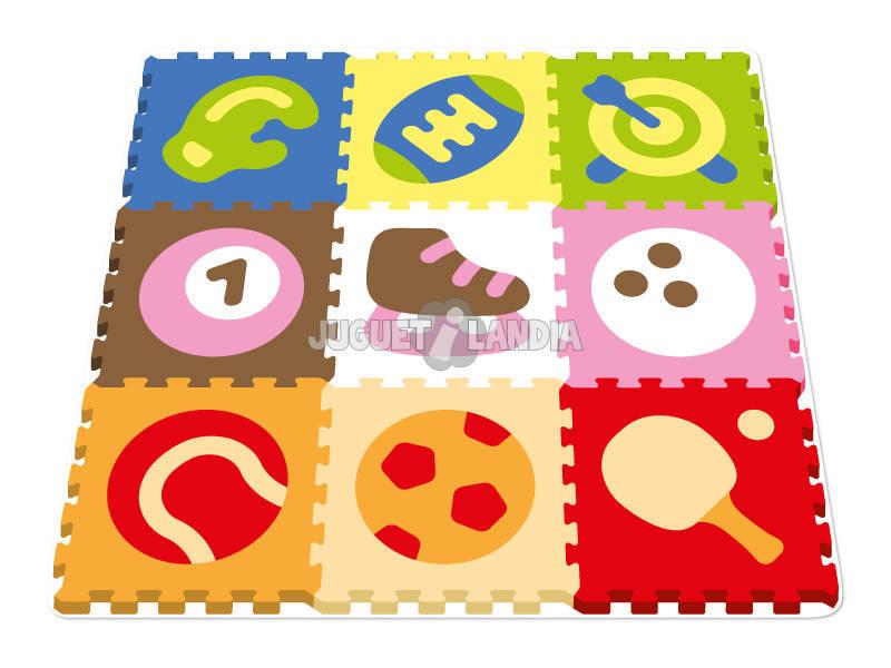 Tappeto Puzzle Sport 10 pezzi 40 cm