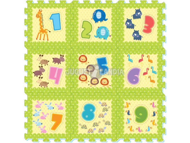 Set Eva Suelo Animales y Números
