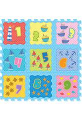 Tappeto Puzzle Oceano e numeri