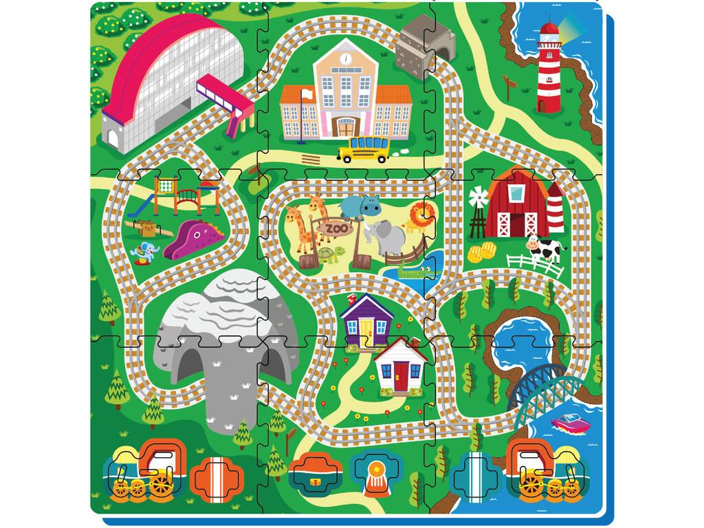 Set eva Puzzle Tren 9 piezas
