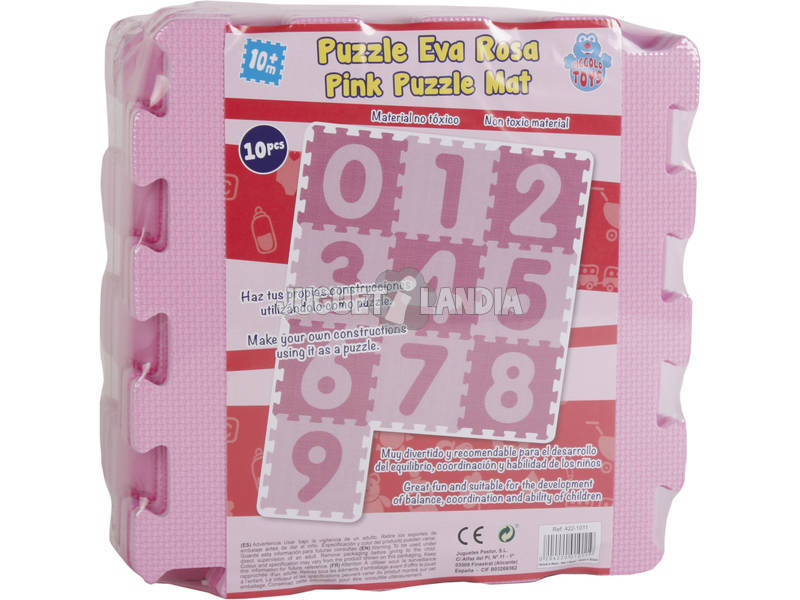 Set Eva numeros 0-9 color rosa