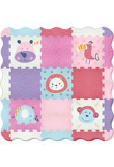 imagen Tappeto Puzzle Animali con bordi ondulati