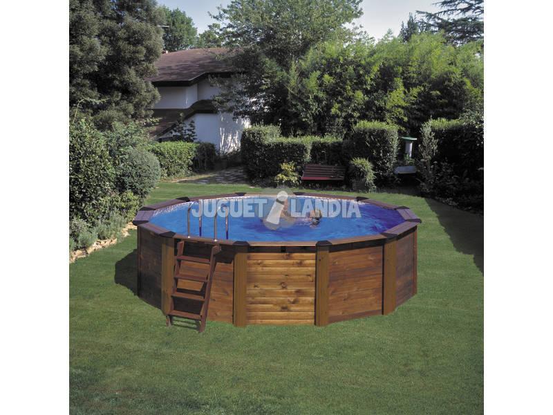 Acheter piscine gre bois hawai 500x132 cm juguetilandia for Acheter piscine bois