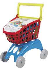 Chariot supermarché avec 24 bloques