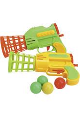 2 Pistolas 22cm. Atrapa La Bola