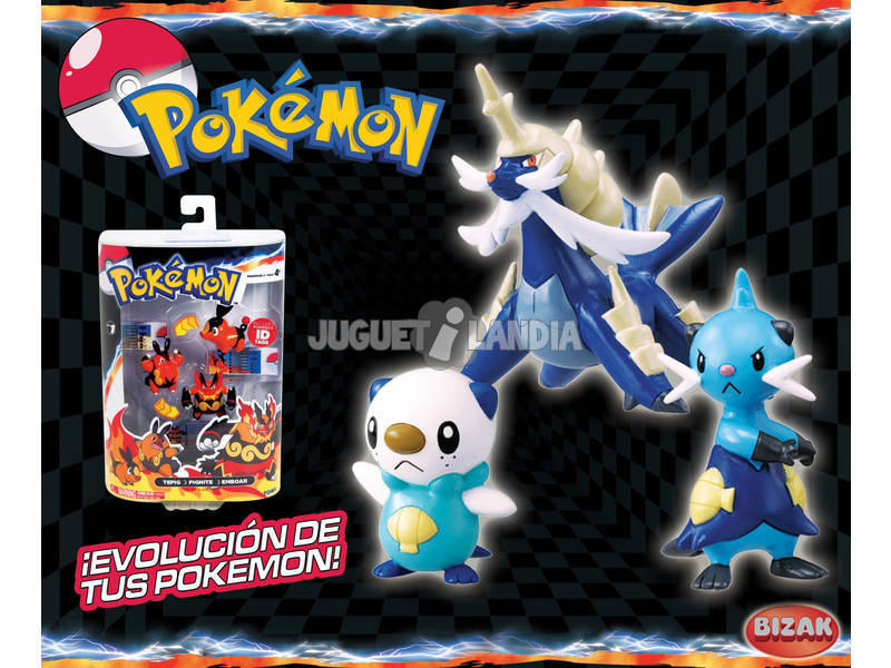 Pokemon pack evolucion 3 figuras