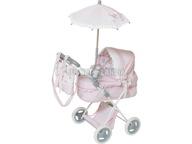 acheter poussette poup e avec sac et parasol rose. Black Bedroom Furniture Sets. Home Design Ideas