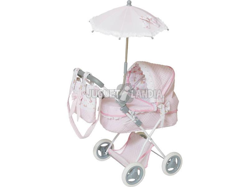 Passeggino Bambole con Borsa e ombrellino Rosa