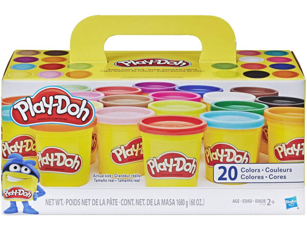 MANUALIDADES Play-Doh Pack Súper Color 20 Botes HASBRO A7924
