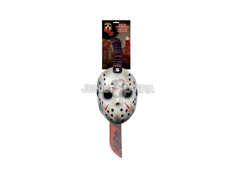 Máscara y Machete Set Jason Rubies 8785