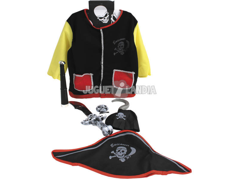 Traje de pirata infantil com acessórios