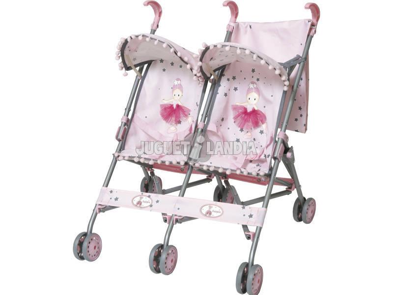 Silla mu eca gemelos con capota ballet juguetilandia - Silla paseo munecas ...