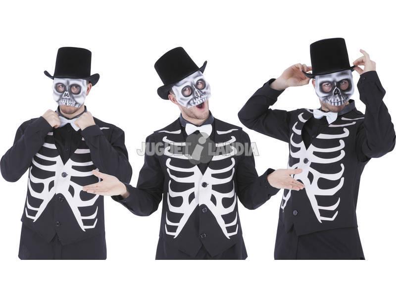 Máscara Esqueleto Meia Cara Rubies S5295