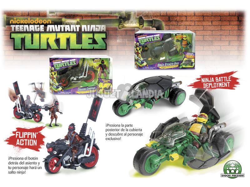 Tortugas Ninja vehiculo con figura