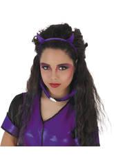 Diadème Diablesse Glitter Violet