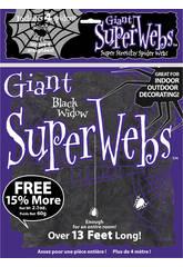 imagen Telaraña Negra Gigante con 4 Arañas Rubies 2327