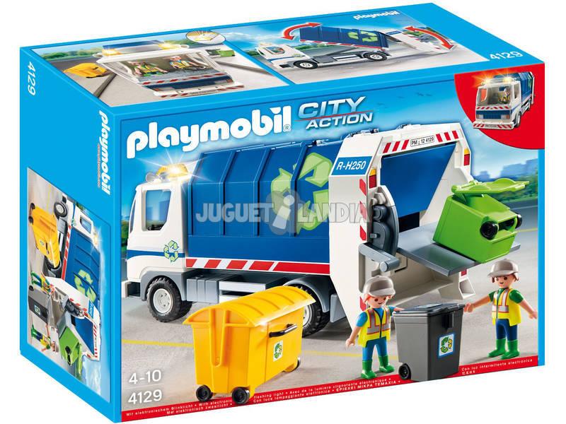 Playmobil camion de reciclage avec lumières