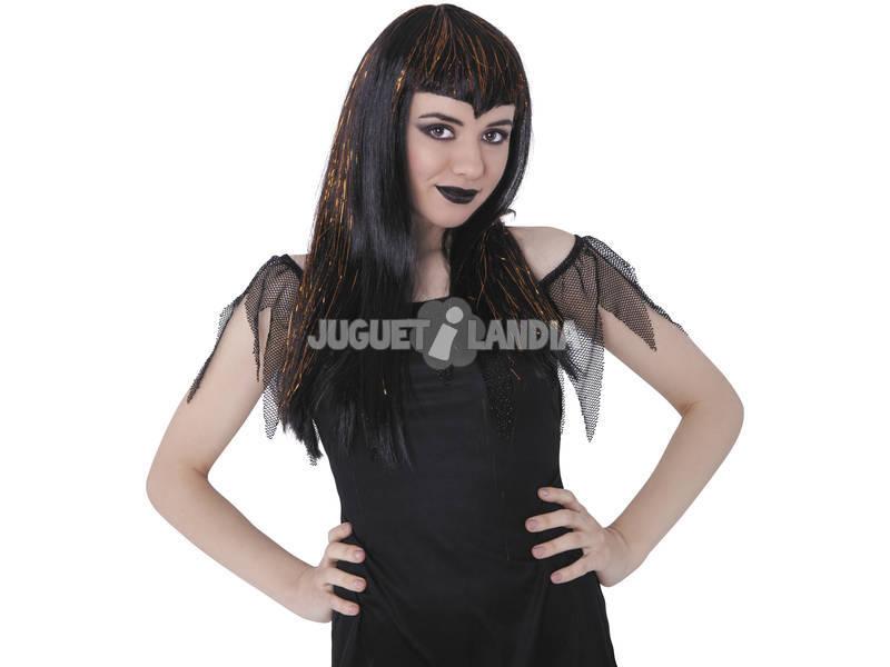 Peluca Vampiresa Traviesa Negra y Naranja Rubies S1539