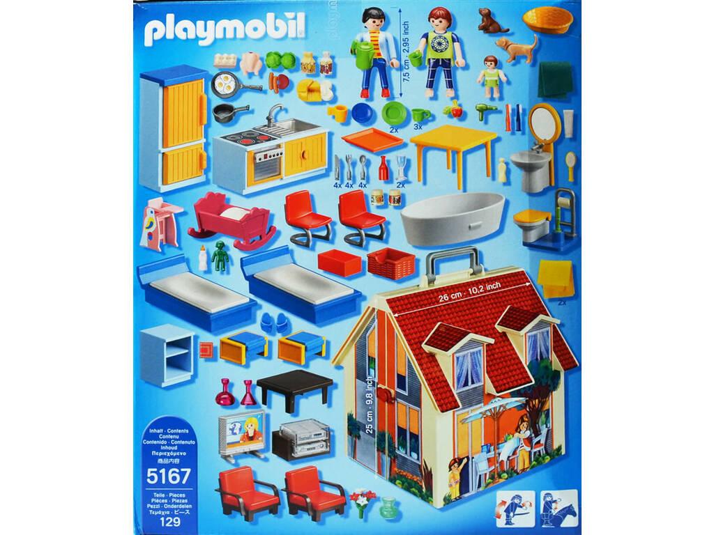 Playmobil casa de mu ecas malet n de juguete 5167 for Casa maletin playmobil